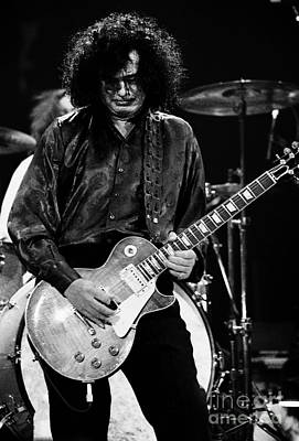 Robert Plant Performance Art Photograph - Jimmy Page-0048 by Timothy Bischoff