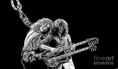 Jimmy Page Mixed Media - Jimmy Page And Robert Plant Collection by Marvin Blaine