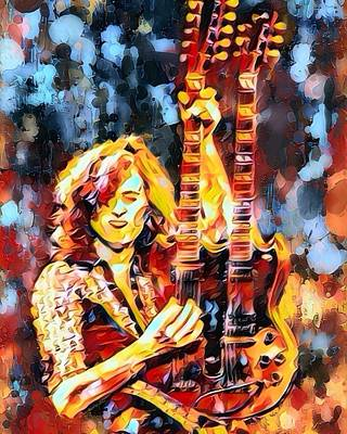 Jimmy Page Abstract  Art Print by Scott Wallace