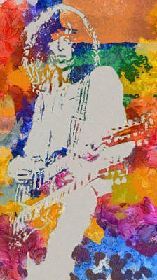 Painting - Jimmy Page by Dan Sproul