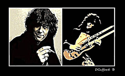 Jimmy Page Art Print by Dave Gafford