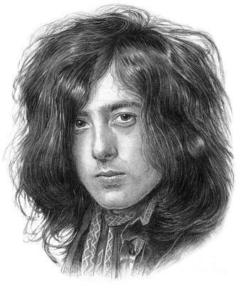 Jimmy Page Drawing - Jimmy Page Led Zeppelin  by Vlado Ondo