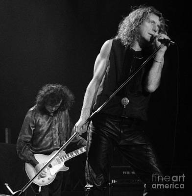 Concert Photograph - Jimmy Page N Robert Plant-0015 by Timothy Bischoff