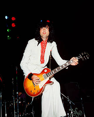 Jimmy Page Photograph - Jimmy Page Of Led Zeppelin by James Fortune