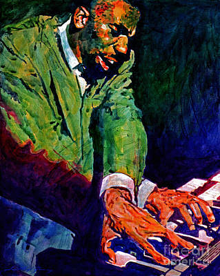 Jazz Legends Wall Art - Painting - Jimmy Smith Root Down by David Lloyd Glover