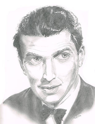 Drawing - Jimmy Stewart by Andrew Gillette