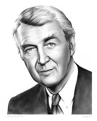 Drawings - Jimmy Stewart by Greg Joens