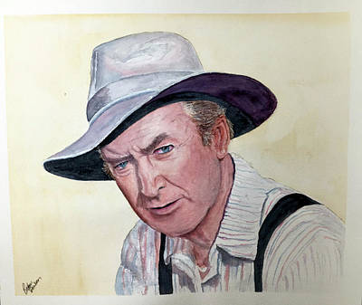 Painting - Jimmy Stewart by Richard Benson