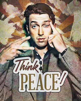 Digital Art - Jimmy Stewart - Think Peace by Darlanne