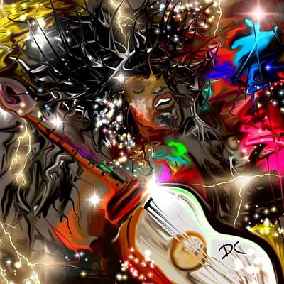 Digital Art - Jimmy's Music by Darren Cannell