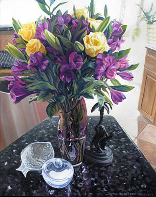 Pastel - Jim's Roses by Suzanne Berry