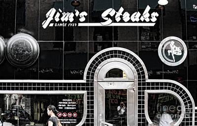 Jim's Steak Color  Art Print