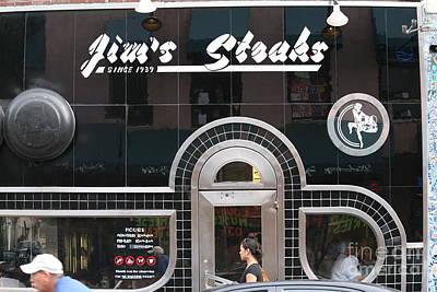 Jim's Steak Paint   Art Print