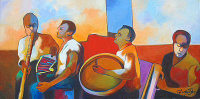 Painting - Jing  Ping Band by Glenford John