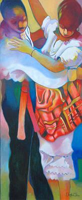 Painting - Jing Ping Dance I by Glenford John