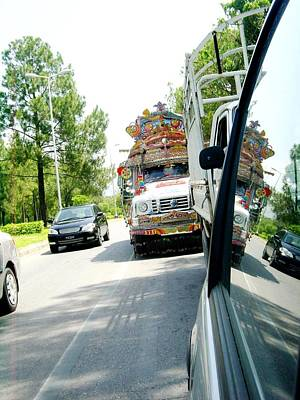 Photograph - Jinga Bus Catching Up by Fareeha Khawaja