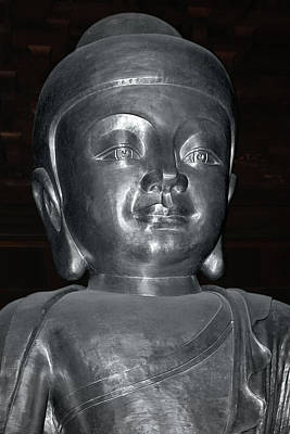 Photograph - Jing'an Silver Buddha - Shanghai China by Christine Till