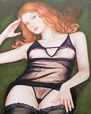 Erotica Painting - Jinger by Oxana Samigulina