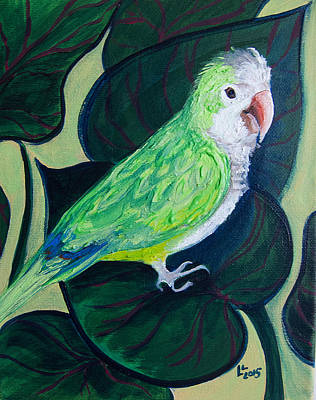 Quaker Parrot Painting - Jingles The Parrot by Lisa LoCurto