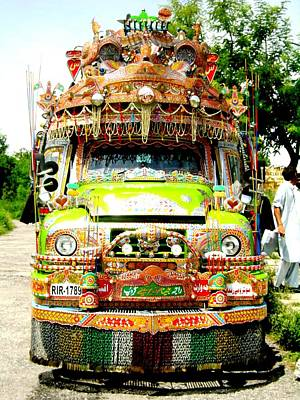 Photograph - Jingly Bus by Fareeha Khawaja