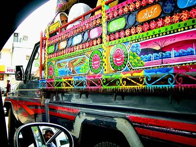 Photograph - Jingly Mini Bus by Fareeha Khawaja