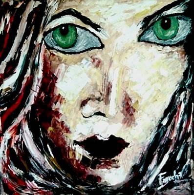 Painting - Her by Fareeha Khawaja