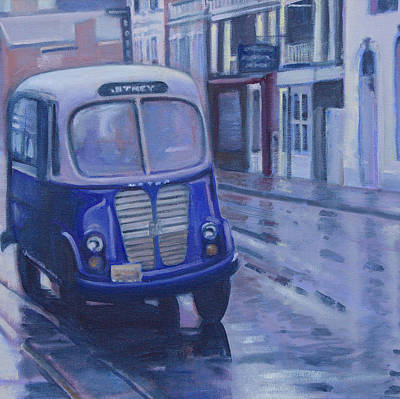 Painting - Jitney Ride In The Rain by Suzn Art Memorial