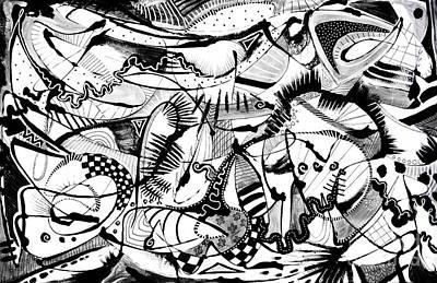 Painting - Jitterbug H by Expressionistart studio Priscilla Batzell