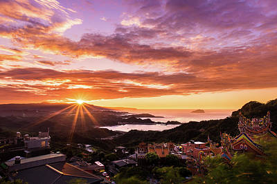 Photograph - Jiufen Sunset by Geoffrey Lewis