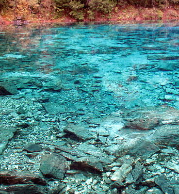 Photograph - Jiuzhaigou Five Color Lake by Carla Parris