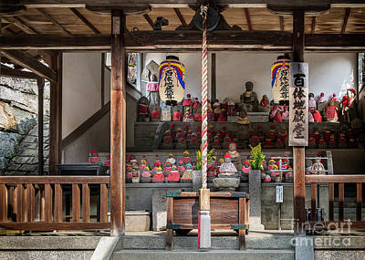 Photograph - Jizo Statues With Bibs Bobak by Karen Jorstad