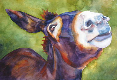 Jackass Painting - Jj The Jackass by Robin Hegemier