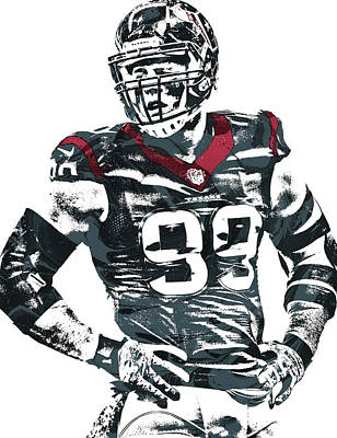 Mixed Media - Jj Watt Houston Texans Pixel Art 5 by Joe Hamilton