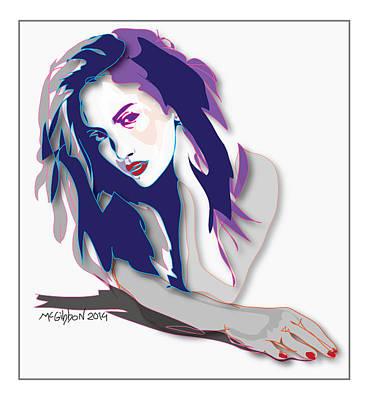 Digital Art - Jlo- Jennifer Lopez by Dan McGibbon