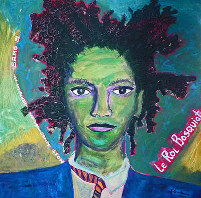 Painting - Le Roi Basquiat by Lucy Godwin