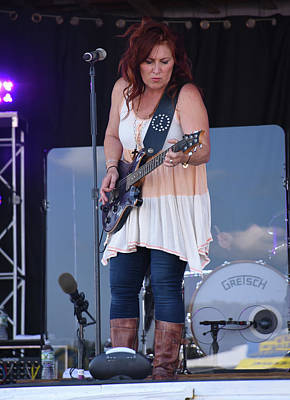 Photograph - Jo Dee Messina Plays Her Guitar by Mike Martin