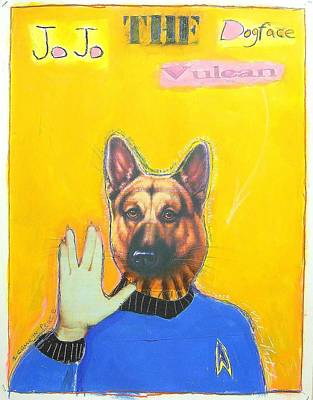 Jo Jo The Dodfaced Vulcan Art Print by Mike  Mitch