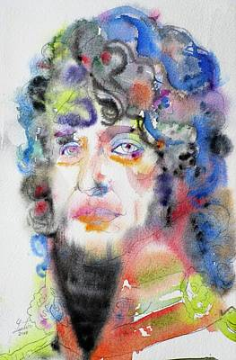 Painting - Joachim Murat - Watercolor Portrait by Fabrizio Cassetta