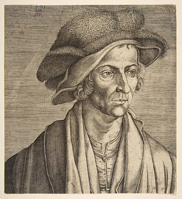 Drawing - Joachim Patinir by Aegidius Sadeler