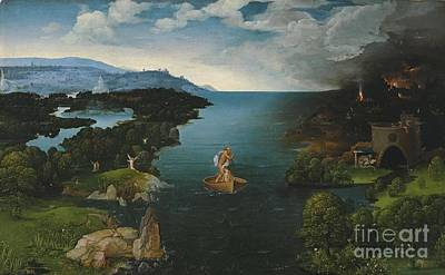 Joachim Patinir And Landscape With Charon Crossing The River Styx Art Print by MotionAge Designs