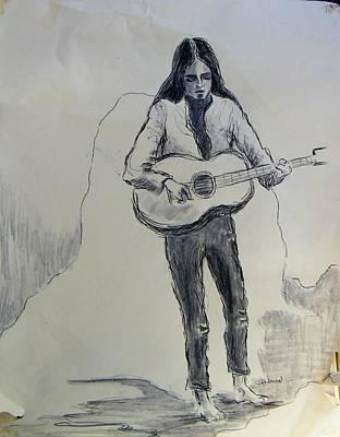 Joan Baez Drawing - Joan Baez In 1966 by Judith Redman