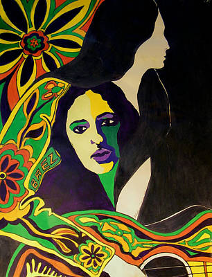 Joan Baez In The Psychodelic Age Art Print