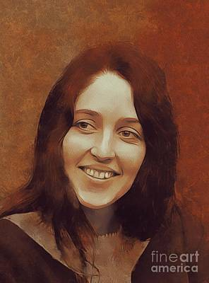 Rock And Roll Royalty-Free and Rights-Managed Images - Joan Baez, Music Legend by Mary Bassett