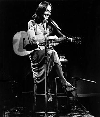Joan Baez Photograph - Joan Baez Relaxes Between Songs by Everett