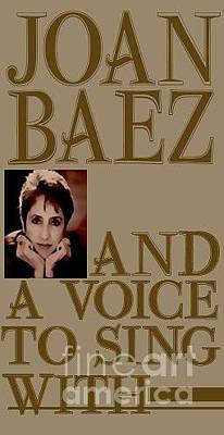 Mixed Media - Joan Biaz by Marvin Blaine
