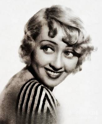 Abstract Airplane Art - Joan Blondell, Vintage Actress by Esoterica Art Agency