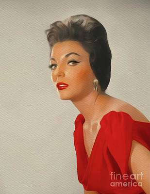 Painting - Joan Collins, Movie Star by John Springfield