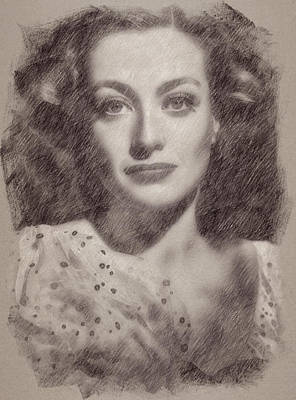 Celebrities Paintings - Joan Crawford by Esoterica Art Agency