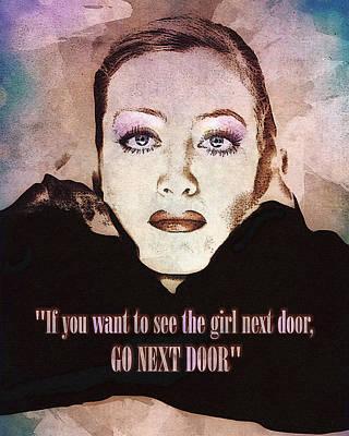 Digital Art - Joan Crawford - Girl Next Door by Darlanne