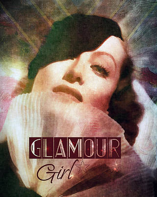 Digital Art - Joan Crawford - Glamour Girl by Darlanne